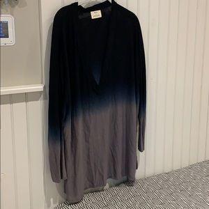 Pins and Needles tye dye v neck sweater
